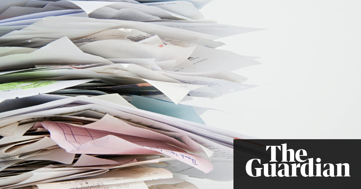 Three steps to better business record keeping guardian small dont let your pile of receipts grow get into the habit of storing them digitally photograph image sourcecorbis reheart Image collections