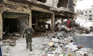 Aftermath of Islamic State occupation of al-Yarmouk Palestinian refugee camp