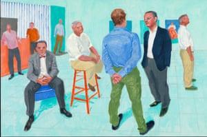 THE GROUP V, 6-11 MAY 2014 by David Hockney. Acrylic on canvas.