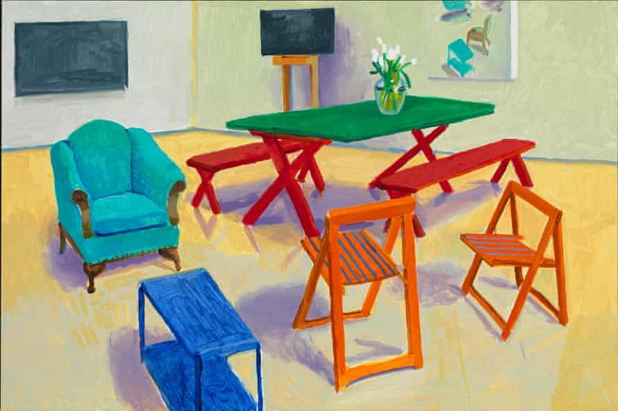 Studio Interior #2 2014 by David Hockney. Acrylic on canvas