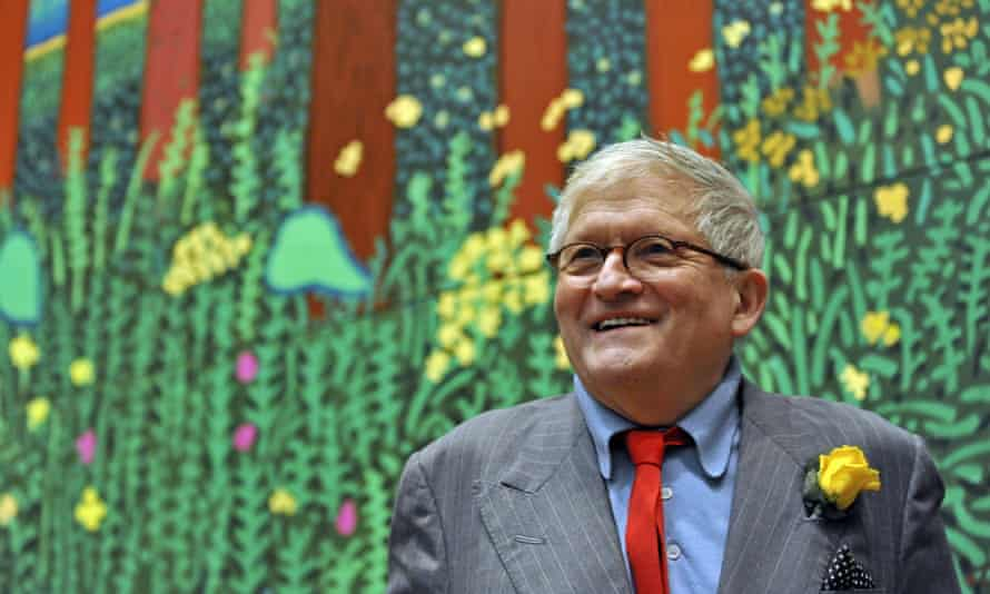 David Hockney pictured at his Royal Academy show A Bigger Picture in 2012.