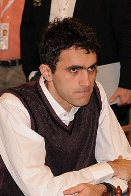 Georgian world No 400 chess player Gaioz Nigalidze, who is accused of using a smartphone to plan his winning moves at a tournament in Dubai.