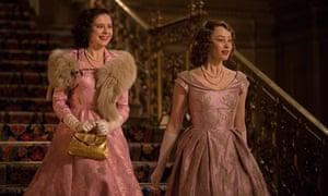 A royal night out Bel Powley, left, and Sarah Gadon as Princesses Margaret and Elizabeth