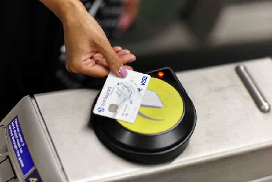 Contactless payment is now a common feature of British life.