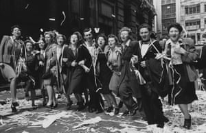 8 May 1945: London crowds celebrate the end of the second world war in Europe.