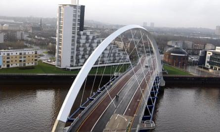 Glasgow's Clyde Arc bridge