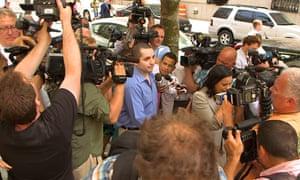 Gilberto Valle amidst media fanfare.