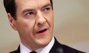 George Osborne: his extreme austerity of 2010-12  failed. Photograph: Andy Rain/EPA