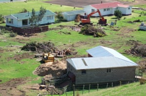 Before the project could begin, buildings and crops had to be demolished.