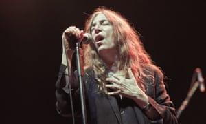 Patti Smith performs at L'Olympia, Paris, 2011.