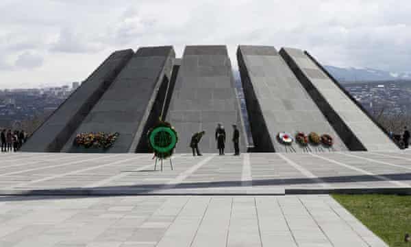 The Armenian Genocide Memorial complex at Tsitsenakaberd hill.
