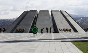 The Armenian Genocide Memorial complex at Tsitsenakaberd hill.