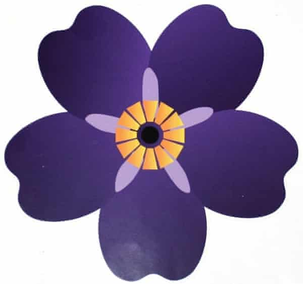 The forget-me-not flower designed to commemorate the centenary of the Armenian genocide.