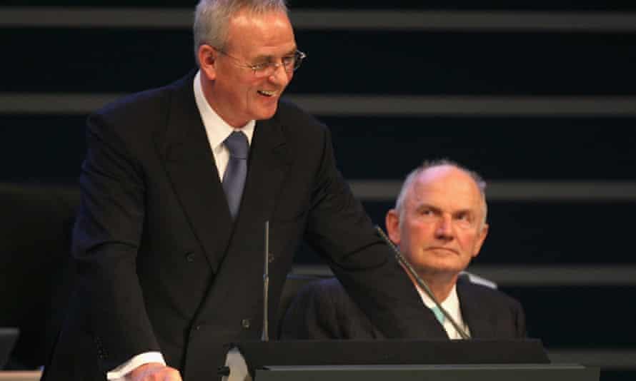 VW gulf: chief executive Martin Winterkorn, left,  and company chairman Ferdinand Piech