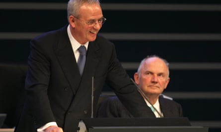 VW gulf: chief executive Martin Winterkorn, left,  and company chairman Ferdinand Piech