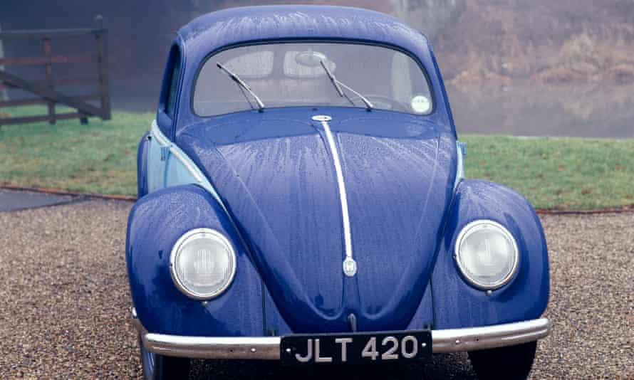 A 1947 Volkswagen Beetle designed by Ferdinand Porsche.