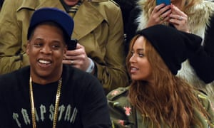 "(FILES) - A file picture taken on  February15, 2015, Beyonce (R) and Jay Z  attend the 64th NBA All-Star Game at Madison Square Garden in New York. R&B queen Beyonce has quietly released a love song dedicated the her husband, hip hop mogul Jay Z, available only on his new streaming service Tidal.  Songstress Queen Bey posted a 15-second preview of the acoustic ballad ""Die With You"" on her Facebook page on April 5, 2015, in celebration of the couple's seven-year wedding anniversary.    AFP PHOTO /  TIMOTHY  A. CLARYTIMOTHY A. CLARY/AFP/Getty Images"