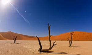 The Namib Desert, Namibia. The systematic extermination of around 80% of the Herero people and 50% o