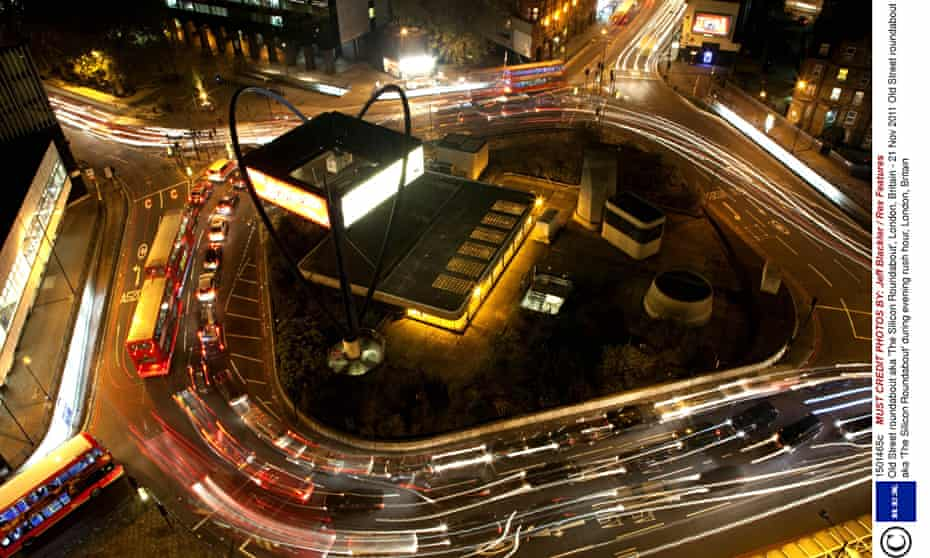 Old Street roundabout aka 'The Silicon Roundabout', London, Britain - 21 Nov 2011