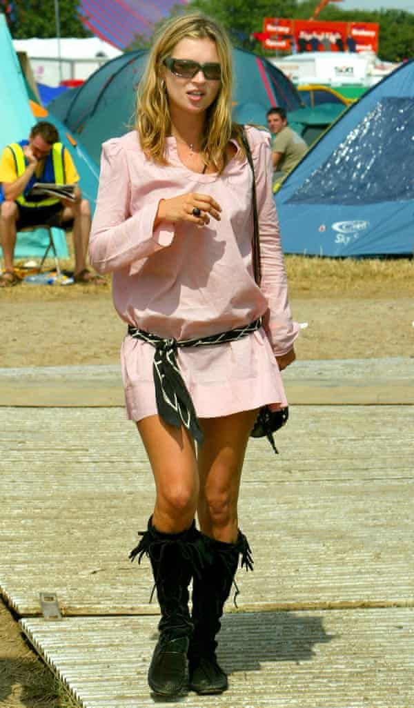 Kate Moss at the Glastonbury Festival in 2003