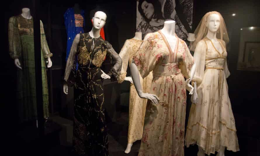 Displays at the Thea Porter 70s Bohemian Chic exhibition.