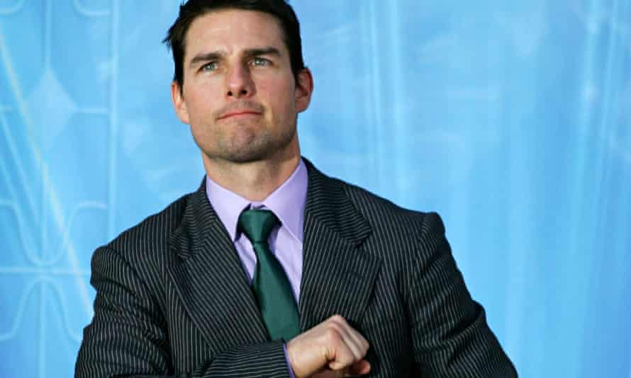 Tom Cruise, pictured after delivering a speech at the opening of a Scientology church.