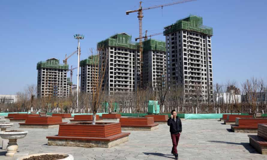 Residential buildings under construction in Tianjin, China.