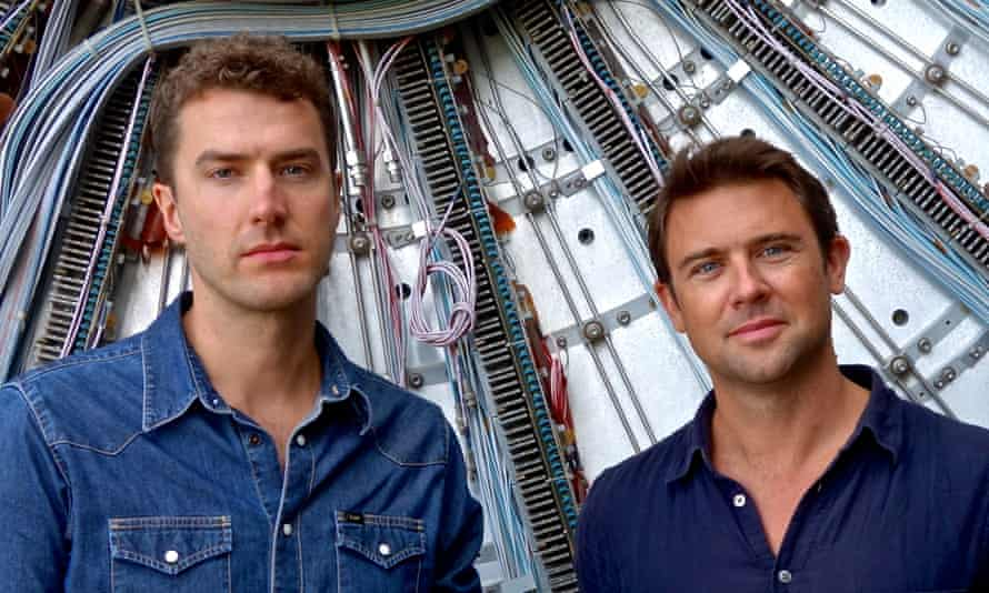 Composer Mark Bowden and poet Owen Sheers at Cern in Switzerland.