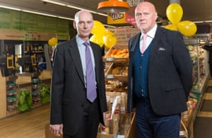 Co-operative Group chief executive Richard Pennycook (left) and chair Allan Leighton.
