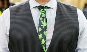 One of the many who gathered for the 4/20 event in Hyde Park.