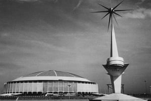 The Astrodome, dubbed 'The Eighth Wonder of the World', Houston, Texas, circa 1965.