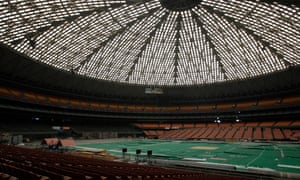 If the indoor park is built, the Astrodome's thousands of Lucite skylight panels will be swapped for a clear-glass roof.
