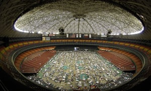 Thousands of victims of hurricane Katrina were given shelter in the Houston Astrodome in 2005.