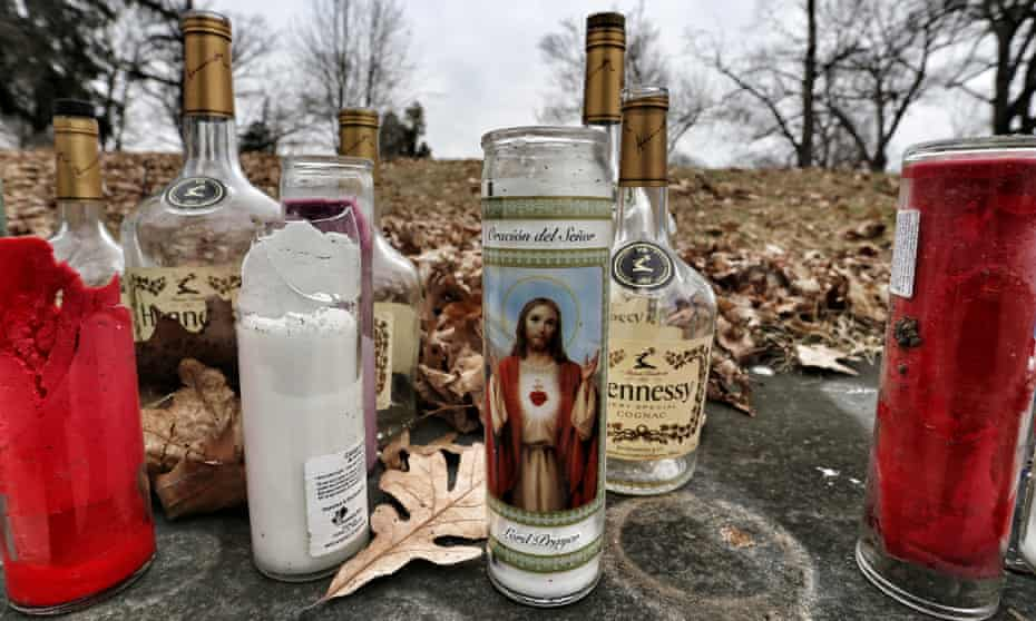 A street-side memorial commemorates another life lost in Newburgh, New York.