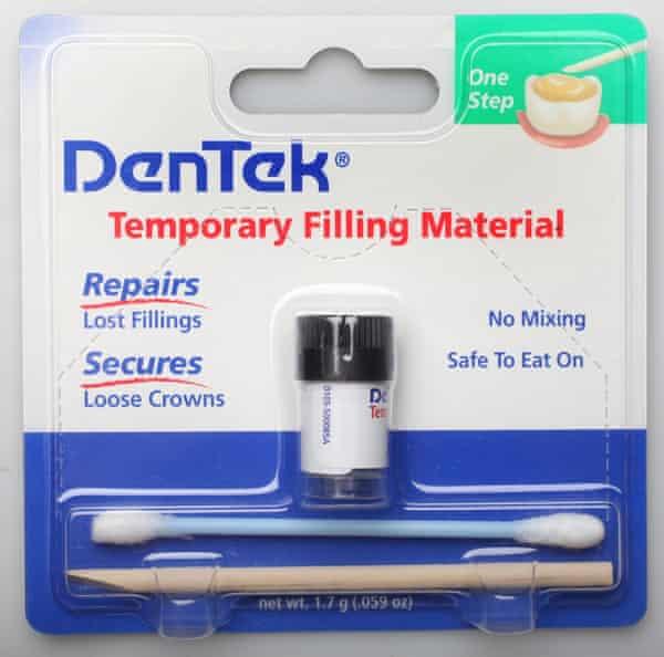 Temporary dental filling material