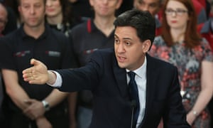 Ed Miliband takes questions from Labour party members in Huddersfield