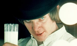 Malcolm McDowell as Alex in Stanley Kubrick's 1971 film adaptation of A Clockwork Orange.