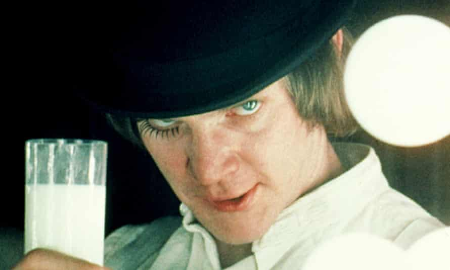 Malcolm McDowell as Alex in Stanley Kubrick's 1971 film adaptation of A Clockwork Orange.