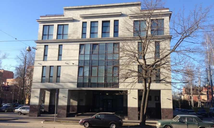 55 Savushkina Street, St Petersburg, said to be the headquarters of Russia's 'troll army'