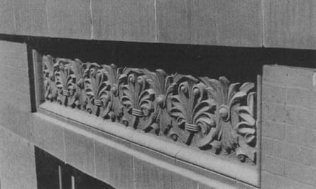 Terra cotta spandrel on the Home Insurance Building.