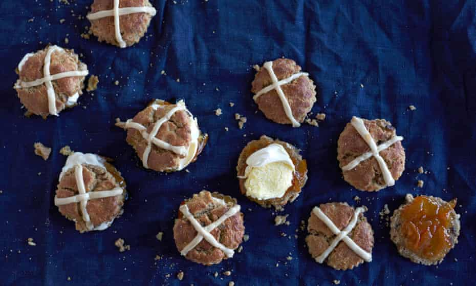 Hot cross scones: 'Is it sacrilege to alter a hot-cross bun'? asks Violet Bakery's Claire Ptak.