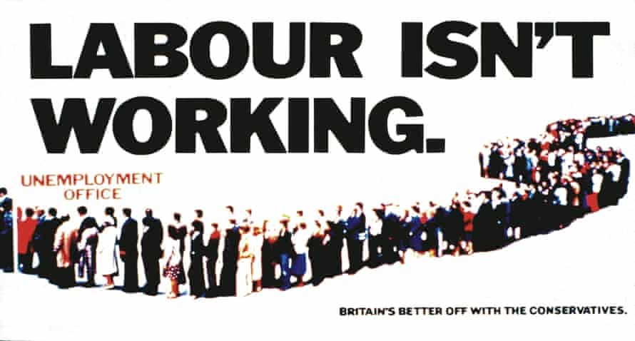 Labour isn't working. Campaign poster for the Conservative Party