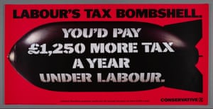 A poster for the British Conservative Party from the 1992 General Election.