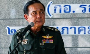 General Prayuth Chan-ocha after the army declared martial law in May 2014.