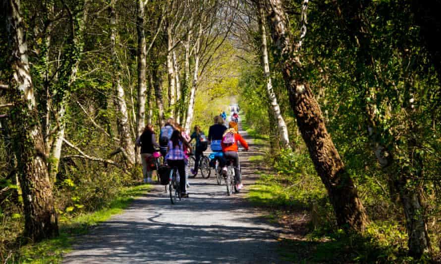 Cyclists on the Mawddach Trail.