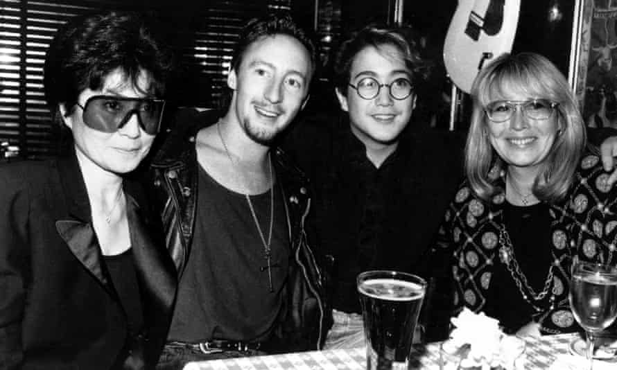 Yoko Ono, Julian Lennon and Sean Lennon with Cynthia Lennon, in New York in 1989 for one of Julian's concerts.