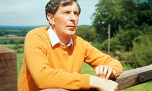 Michael Tippett photographed in Wiltshire, in 1972.