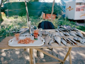Fish stall at Hidro park