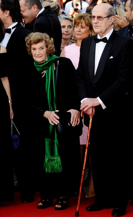 Manoel de Oliveira and wife at Cannes in 2010.