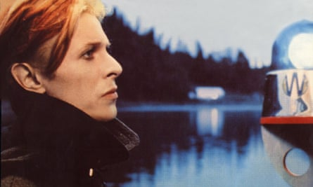 David Bowie in The Man Who Fell to Earth, the film on which Lazarus is based.